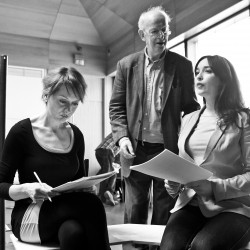 Cathy Belton, Tom Hickey, and Aoibheann O'Hara in The Gate's production of 'A Woman of No Importance' by Oscar Wilde. Photo by Pat Redmond