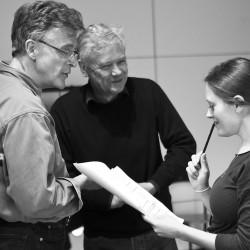 Patrick Mason, David Yelland & Rebecca O'Mara. Mrs Warrens Profession. photo Pat Redmond