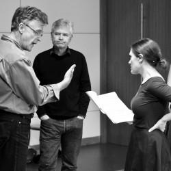 Patrick Mason, David Yelland, Rebecca. Mrs Warrens Profession. photo Pat Redmond